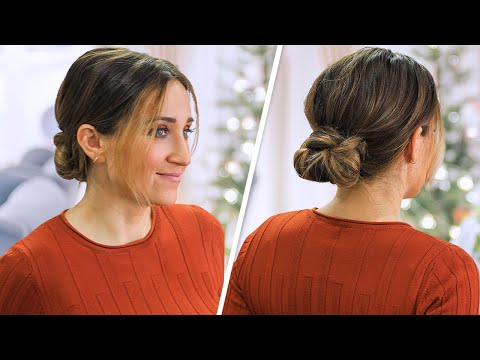 How to Create a Knotted Low Bun   Cute Girls Hairstyles