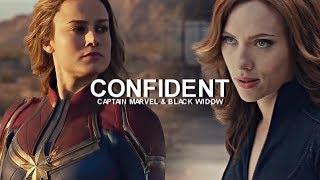 Captain Marvel & Black Widow    Confident