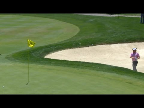William McGirt?s successful bunker hole out at Bridgestone