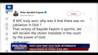 'I Don't Lose Battles': Fayose Reacts To Ekiti Election Result, Attacks Buhari |Politics Today|