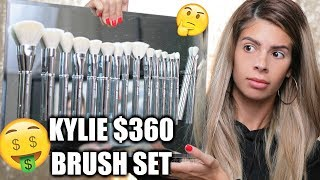KYLIE COSMETICS $360 BRUSH SET   OMG DUPES!!!  HIT OR MISS??