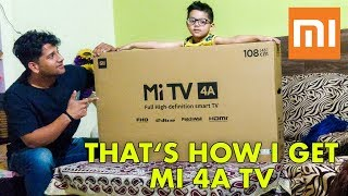 mi tv 4a 43 inch | Birthday Gift | Sister's Reaction