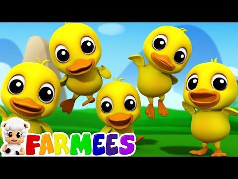 Five Little Ducks | 3D Nursery Rhymes | Kids Songs | Children's Music Video by Farmees
