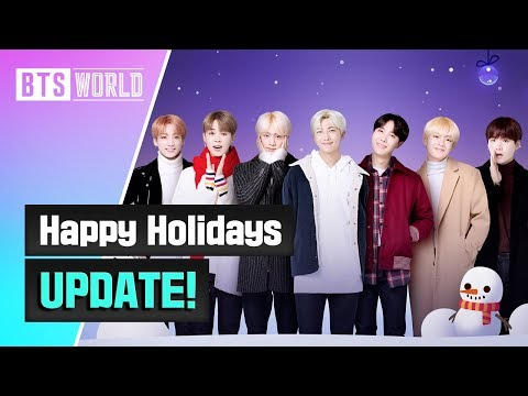 [BTS WORLD] Happy Holidays UPDATE!