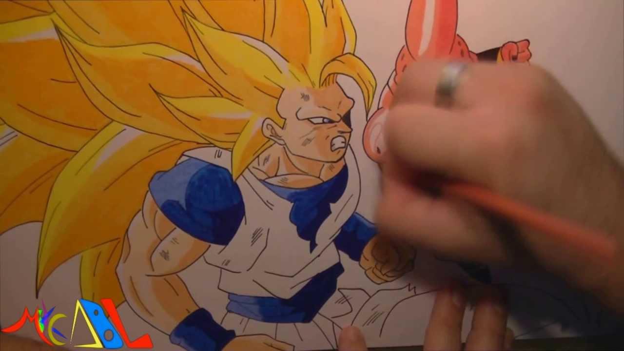 Dibujando A: Goku SSJ3 Vs Boo