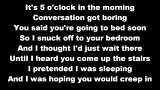T-Pain - 5 O'Clock ft. Wiz Khalifa, Lily Allen - lyrics on screen