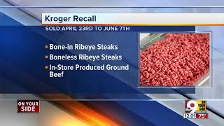 Kroger recall alert: Ribeye and ground beef products