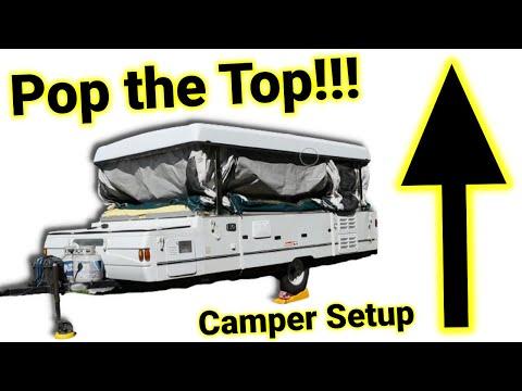 Pop-Up Camper Set-Up Highlights // Coleman Utah by Rockwood