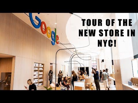 Tour of the First Google Flagship Store in New York - 4K
