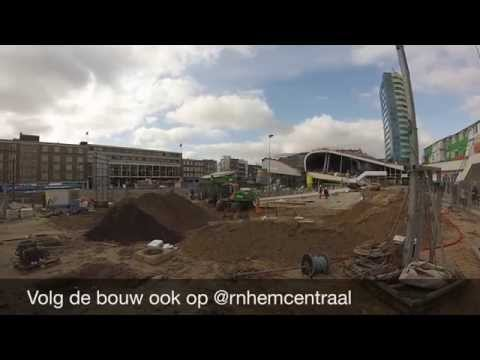 Bouw station Arnhem Centraal