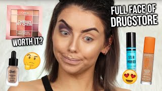 FULL FACE OF FIRST IMPRESSIONS! DRUGSTORE / AFFORDABLE MAKEUP TUTORIAL + REVIEW