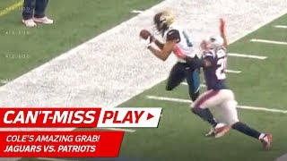 Keelan Cole's Insane Toe Drag Swag vs. Pats!   Can't-Miss Play   AFC Championship HLs