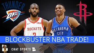 BREAKING: Russell Westbrook Traded To The Houston Rockets For Chris Paul & Draft Picks