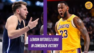 LeBron Outduels Luka in Comeback Victory