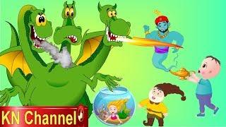 Hoạt Hình KN Channel QUÁI VẬT 3 ĐẦU TẤN CỐNG VÀ SỰ TRỞ LẠI CỦA THẦN ĐÈN CỨU TIÊN CÁ