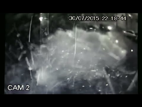 CCTV Footage: Homemade bomb hurled at ex-Brazilian President's foundation