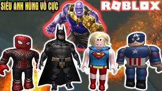ROBLOX   Xây Trường Chiêu Mộ Siêu Anh Hùng Chiến Đấu Với THANOS   ⚡ Hero Inc ⚡   Vamy Trần