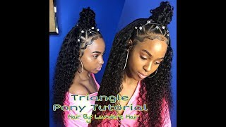 Small Triangle Ponytail Quick Weave | Lumiere Hair Tutorial