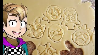 Making FNaF Holiday Cookies with Bootleg Cutters!