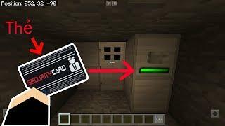CÁCH LÀM CÁNH CỬA BẢO MẬT BẰNG THẺ ATM - Minecraft PE
