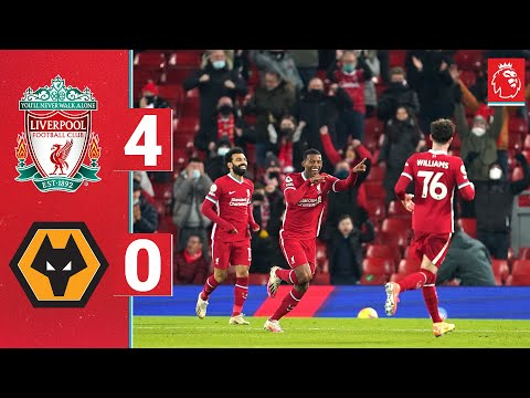 Highlights: Liverpool 4-0 Wolves | Fans welcomed back to Anfield in style