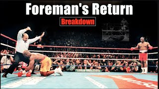 How Big George Foreman Took Back His Title (20 Years After Ali) - Holyfield & Moorer Fight Breakdown