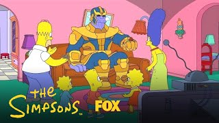 Thanos Visits The Simpsons | Season 30 Ep. 12 | THE SIMPSONS