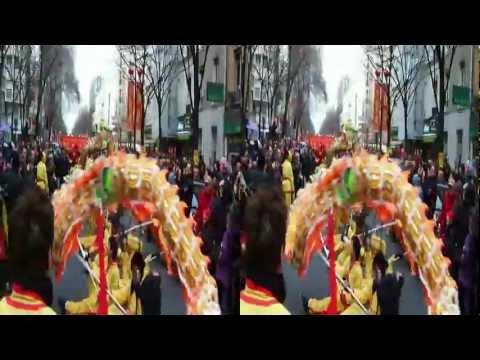 NOUVEL AN CHINOIS 2012 PARIS XIII (Grand Défilé) en 3D #02