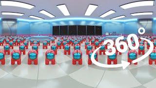 Among Us 360° Video with 1000 Mini Crewmates