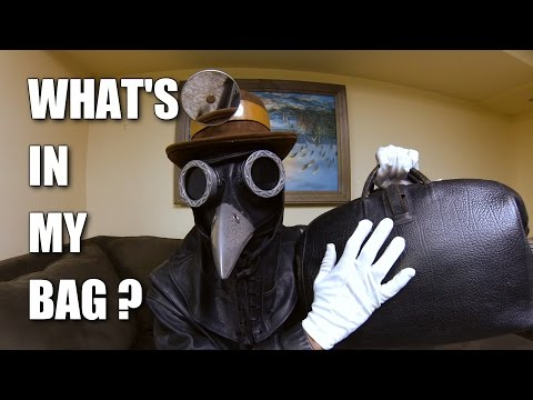 What's in my Bag? with Corvus D. Clemmons ASMR Plague Doctor