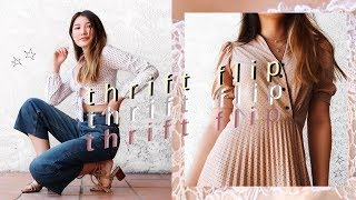 THRIFT FLIP // transforming old jeans, dresses + tshirts