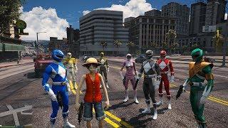 GTA 5 Mod - Luffy và 5 Anh Em Siêu Nhân náo loạn đường phố =))