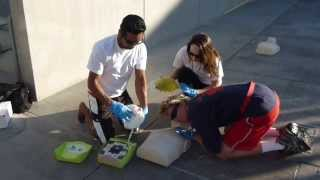Lifeguarding Drill: 3-Rescuer CPR/AED and BVM Position with 1 Rescuer Removed Part 5