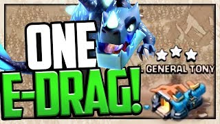 ONE EDragon THREE STARS General Tony's Town Hall 12 in Clash of Clans!