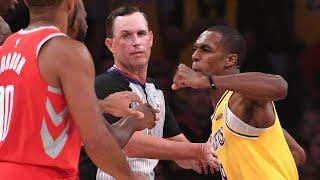 Lakers vs Houston  fight !!!
