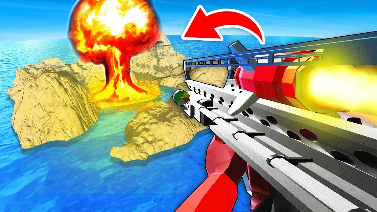 FALLOUT FAT MAN NUKE BOMB MOD vs DESERT ISLAND IN RAVENFIELD (Ravenfield  Funny Gameplay)