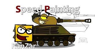 Speed Paint Sherman Fury. RanZar. Рандомные Зарисовки.