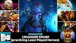 BLUE SPAN IMMORTAL ON CRUSADER (practicing Least Played Heroes) DOTA 2 - YouTube
