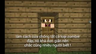 Minecraft Pe ● MẸO ĐẶT CỬA ĐỂ ZOMBIE KHÔNG THỂ ĐẬP ĐƯỢC !