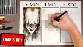 Drawing IT 2: Pennywise 10 MIN, 1 MIN & 10 SECONDS!