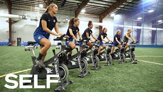 Professional Soccer Players Take a SoulCycle Class and Try to Keep Up With the Instructors | SELF