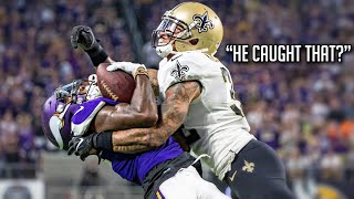 """NFL """"How Did He Catch That!?"""" Moments 