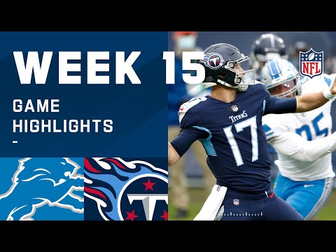Lions vs. Titans Week 15 Highlights | NFL 2020