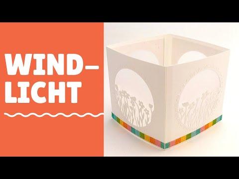 Windlicht basteln--brandneue Februar Produkte von Stampin' Up!--DIY-Anleitung