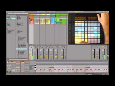 Ableton PUSH Demo #4 : Performance live avec PUSH
