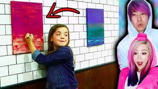 Girl DESTROYS Super Expensive Painting By Drawing On It! What Would You Do?