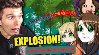 EXPLOSION AUF DER NEUEN ACHTERBAHN