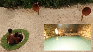 Dig To Build Most Hidden Underground Tunnel cave & Secret Hidden Underground Swimming Pool