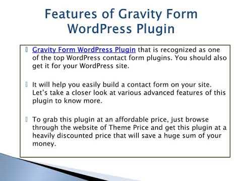 Gravity Form WordPress Plugin: One Of The Top WordPress Contact Form Plugin