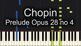 Chopin Prelude Opus 28 no 4 Piano Cover + SHEET MUSIC